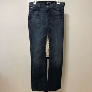 7 For All Mankind Dark Wash Bootcut Jeans Size 27
